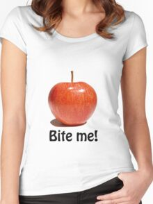 Bite me Women's Fitted Scoop T-Shirt