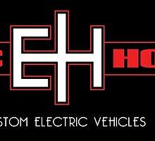 Electric Horsemen - Custom Electric Bikes black sticker by Simon Williams