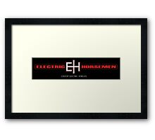 Electric Horsemen - Custom Electric Bikes black sticker Framed Print