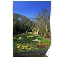 Italian Gardens, Scarborough Poster