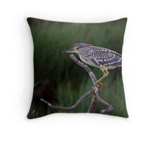 Heron Hunt Throw Pillow