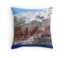 Oia,Santorini Throw Pillow
