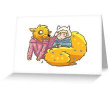 Finn & Jake chillin Greeting Card