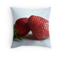 Strawberry Love Throw Pillow