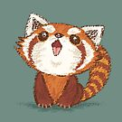 Red panda happy by Toru Sanogawa