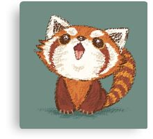 Red panda happy Canvas Print