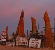 Chinaman's Desert Art at Sunrise by Les Pullen