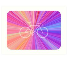 Bike Pink Gradient Art Print