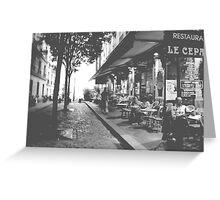 Dinner in Montmartre Greeting Card