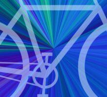 Bike Blue Gradient Sticker