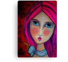 Penelope Lili Bow Bright Canvas Print