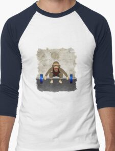 Sock Monkey Bodybuilder Men's Baseball ¾ T-Shirt