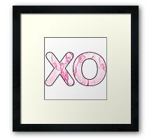 Letter Series - x & o (kisses and hugs pink) Framed Print