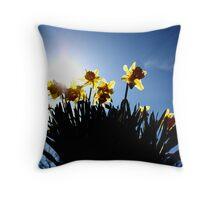 Host of Golden Daffodils Throw Pillow