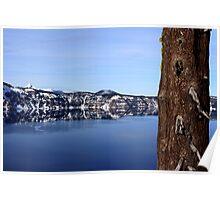 Crater Lake Rim Poster