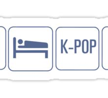 EAT SLEEP KPOP REPEAT Sticker