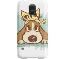 Sketch of kitten and dog Samsung Galaxy Case/Skin