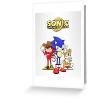 Sonic OVA Greeting Card