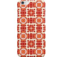 Red, Orange and White Abstract Design Pattern iPhone Case/Skin