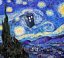 A Starry Night Van Gogh Doctor Who Tardis Products by Angelinas