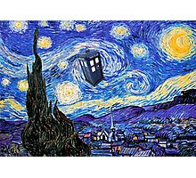 A Starry Night Van Gogh Doctor Who Tardis Products Photographic Print