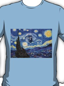 A Starry Night Van Gogh Doctor Who Tardis Products T-Shirt