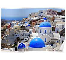 Cycladic Architecture at Santorini Poster