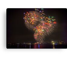 Boston Fireworks - Flying Feathers Canvas Print