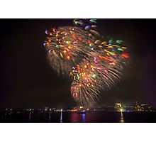 Boston Fireworks - Flying Feathers Photographic Print
