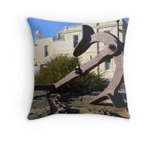 Anchored in the Past Throw Pillow