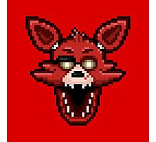 Five Nights at Freddy's 1 - Pixel art - Foxy Photographic Print