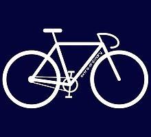 White Bike Silhouette by mattclark