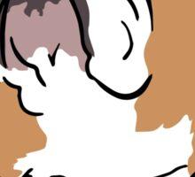 English bulldog cartoon Sticker