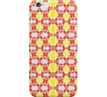 Yellow, Red and White Abstract Design Pattern iPhone Case/Skin