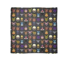 Five Nights at Freddy's - Pixel art - Multiple characters Scarf