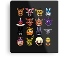 Five Nights at Freddy's - Pixel art - Multiple characters Metal Print