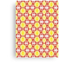 Yellow, Red and White Abstract Design Pattern Canvas Print