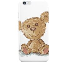 Teddy bear sitting iPhone Case/Skin