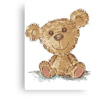 Teddy bear sitting Canvas Print