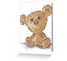 Teddy bear sitting Greeting Card