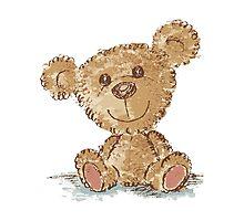 Teddy bear sitting Photographic Print