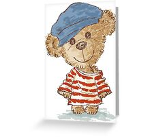Teddy bear and clothes Greeting Card