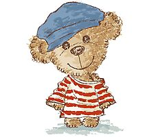 Teddy bear and clothes Photographic Print