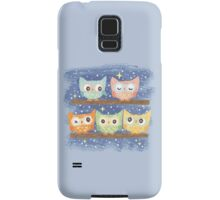 Five birds Owl Samsung Galaxy Case/Skin