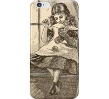 Five Mice in a Mouse Trap Laura Elisabeth Howe Richards and Kate Greenaway 1881 0145 Fluff Sewing iPhone Case/Skin