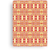 Red, Yellow and White Abstract Design Pattern Canvas Print