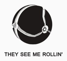 They See Me Rollin' My Morph Ball (Black)  Baby Tee