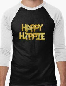 Happy Hippie Foundation [Balloons] Men's Baseball ¾ T-Shirt