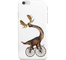 Brachiosaurus Brachiolope on Velocipede iPhone Case/Skin