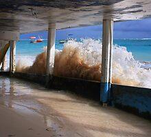 HouseBoat Wave - Caribbean Ocean by JamesA1